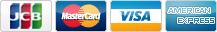 ご利用可能なクレジットカード JCB, Master Card, VISA, American Express